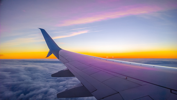 Moře, cestování, dovolená, letadlo