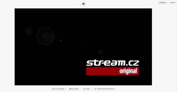 Úvodní stránka internetové televize Stream.cz