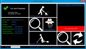 <p>Natosoft Security Center nabízí především volby pro vyčištění internetových prohlížečů</p>