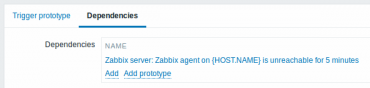 Zabbix 3.0 trigger prototype dependency