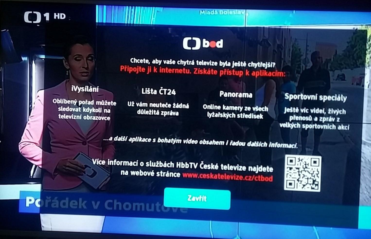 Hybridní vysílání České televize - offline prostředí