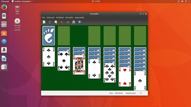 Prohlédněte si nové Ubuntu 17.10sprostředím Gnome
