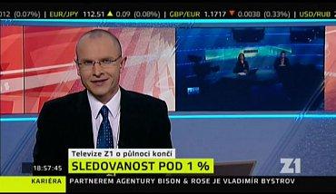 Jan Zika oznamuje konec vysílání zpravodajského kanálu Z1 v lednu 2011.