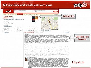 Provozovatelé mohou libovolně upravovat podobu stránky svého podniku.