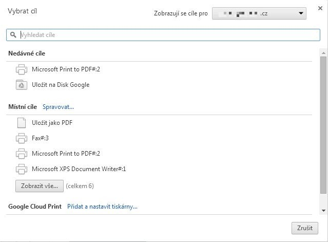 Pomocí příkazu Tisk můžete uložit na Disk Google libovolnou internetovou stránku ve formátu PDF