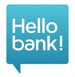 Oficiální logo obchodní značky Hello Bank, kterou provozuje společnost BNP Paribas Personal Finance SA
