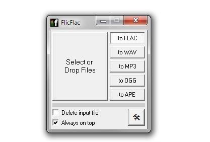 FlicFlac je jednoduchý, ale přitom výkonný nástroj pro převod hudby