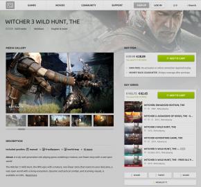 GOG.com: stránka hry. Vše je velmi přehledné