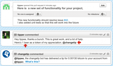 Příspěvek na GitHubu může vypadat například takto