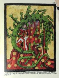 Prokletý drak sežral slunce, je mu rozříznuto břicho, a teď musí vydat sluneční zlato i se svou krví. Je to návrat starého, návrat Atmavicta. Pán, který zničil bující zelenou slupku, je onen mladík, který mi pomohl zabít Siegfrieda (což se stalo i v LP, 7. kapitole Zavraždění hrdiny.