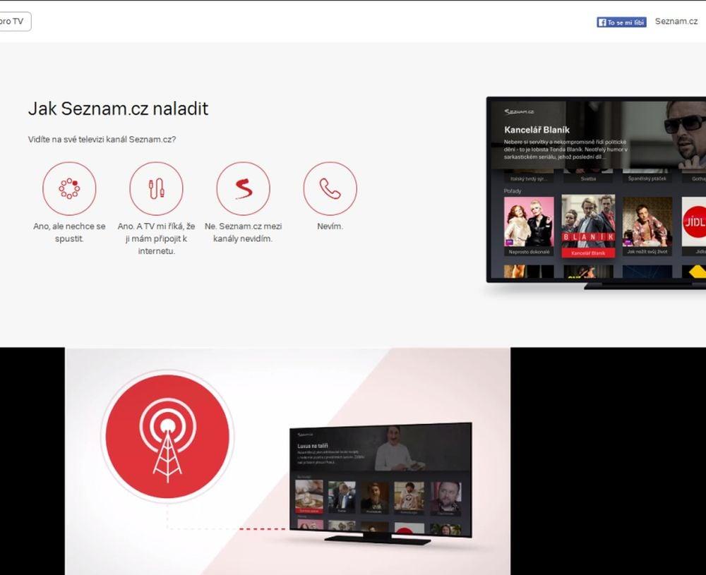 Seznam.cz TV - web Jak naladit