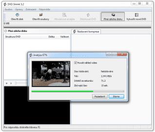 <p>Než je zobrazena struktura DVD, musí být nejdříve provedena analýza</p>