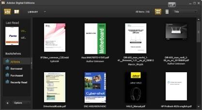 Pomocí Adobe Digital Editions můžete spravovat své eknihy
