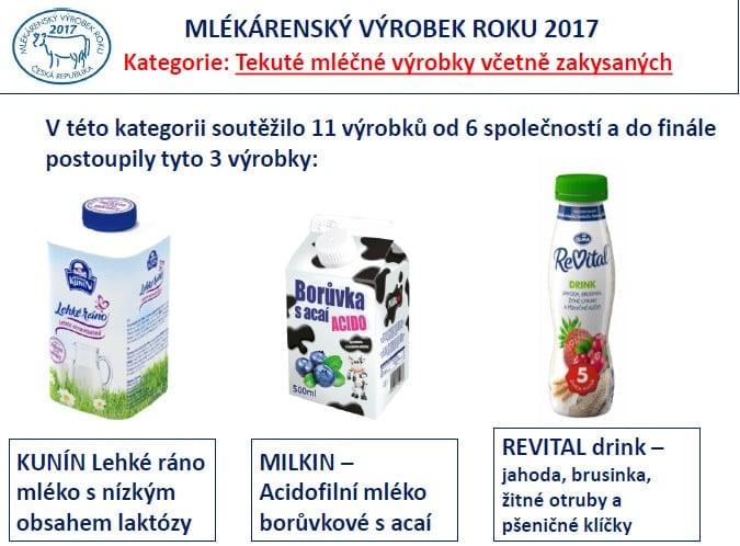 Nejlepší mlékárenský výrobek roku 2017 je...