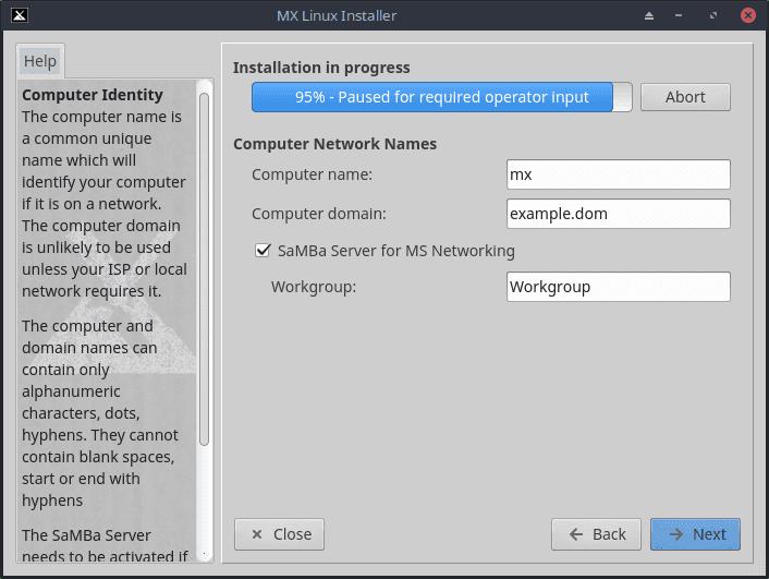 MX Linux 18.3 - instalace