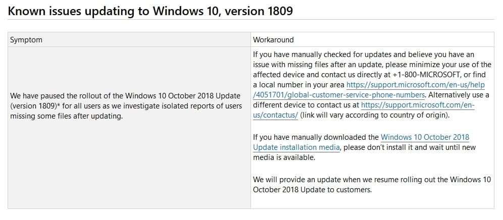 windows 10 october update microsoft