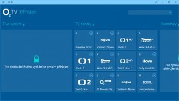 Dotyková aplikace O2TV / O2TV Air