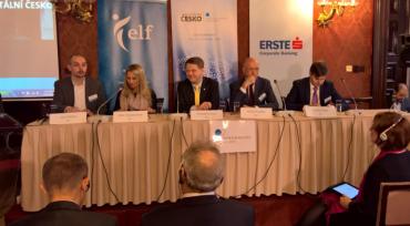 Diskusní panel na konferenci Digitální Česko v Schebkově paláci