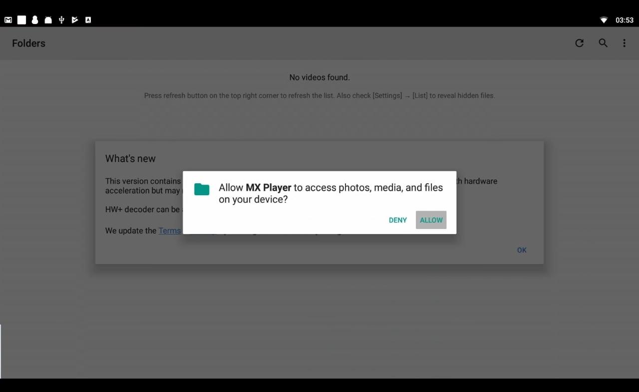 Přehrávání 4K videa z USB disku v MX Playeru
