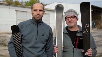 Lubor Hyška (vlevo) a Richard Mikyska, výrobci lyží značky Carbonski