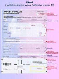 Žádost o řidičský průkaz včetně návodu na vyplnění