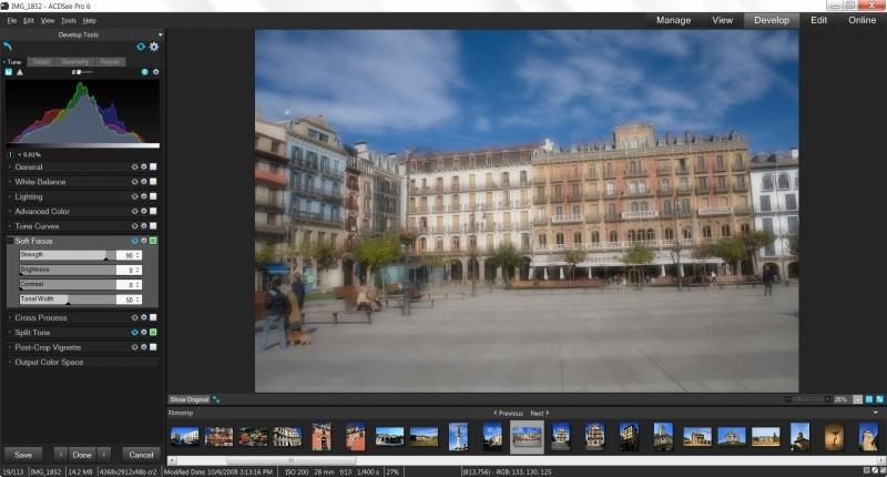 Aplikace Soft snímky příjemně zjemní