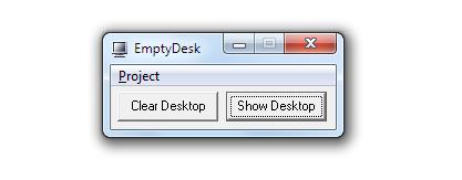 Pomocí EmptyDesk skryjete ikonky z Plochy