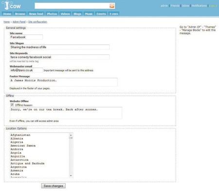 Budování vlastní sociální sítě s Jcow - krok 7.