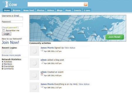 Budování vlastní sociální sítě s Jcow - krok 5.