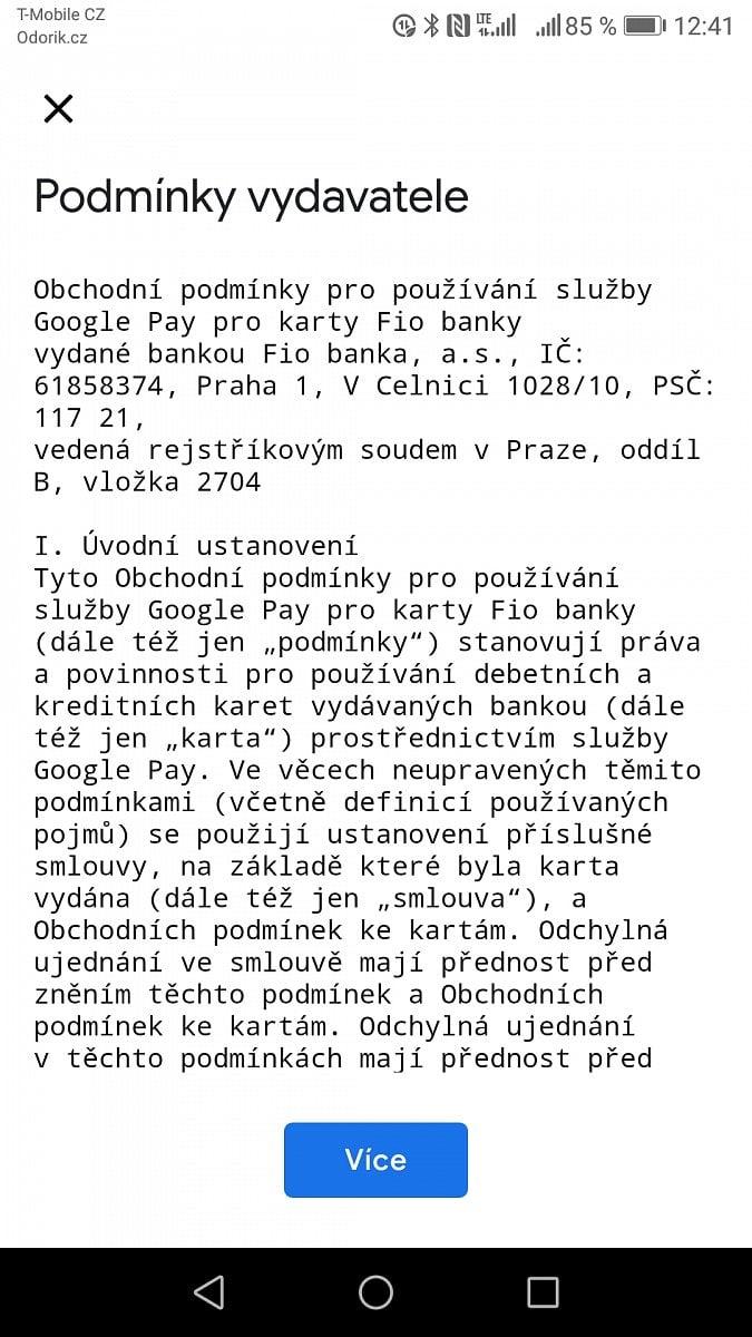 Fio Google Pay
