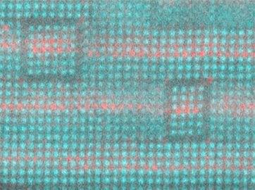 Vrstvená struktura stroncia (bez barvy), barya (červená) a titanu (šedozelená) je laditelné dielektrikum, které může zlepšit vysokofrekvenční elektroniky.