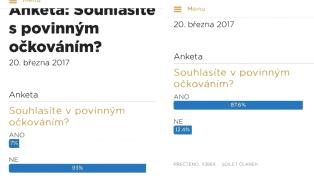 Vitalia.cz: Falšuje ČSSD výsledky ankety o očkování?