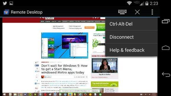 Vzdálená plocha Chrome v prostředí operačního systému Android