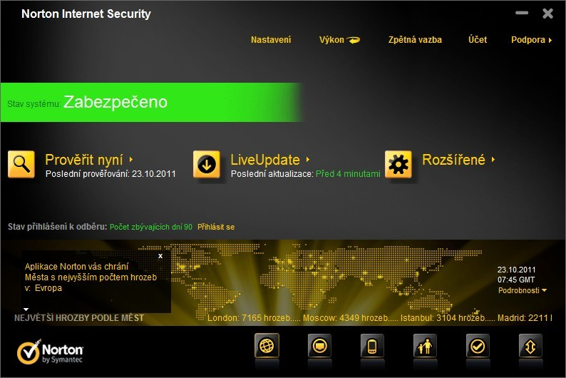 Norton Internet Security 2012 a Norton AntiVirus 2012