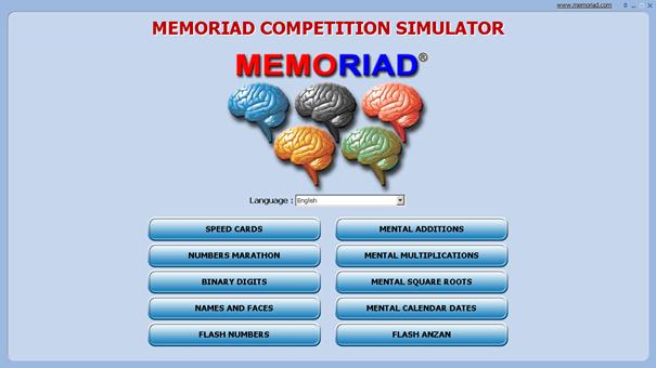 Memoriad Competition Simulator vás připraví na MEMORIAD olympiádu