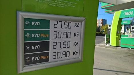 Cena PHM na čerpací stanici MOL v Ostravě (21. 4. 2020)