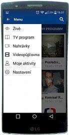 Na obrázku je menu služby zobrazované v mobilním telefonu. Další screenshot najdete ve fotogalerii na konci článku.