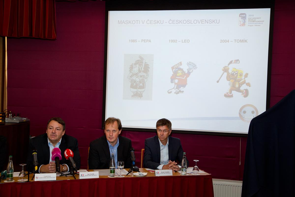 Tisková konference Českého svazu ledního hokeje a České televize
