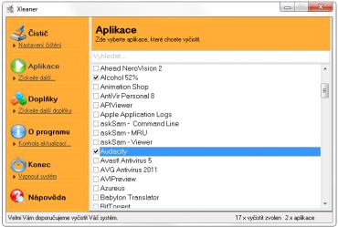 <p>Xleaner - důkladné vyčištění systému od nepotřebných dat</p>