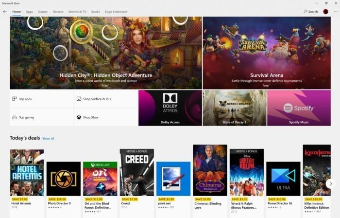 Aplikace Microsoft Store je něco jako iTunes od Microsoftu. Najdete zde aplikace, hry i videa.