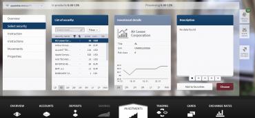 Ukázka připravované nejnovější verze klientského portálu Arbes pro J&T banku kombinuje standardní bankovní produkty, privátní bankovnictví ainvestice.