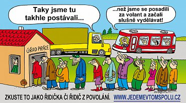 Náborová kampaň Sdružení ČESMAD na profesionální řidiče.