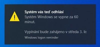 Vypnutí PC
