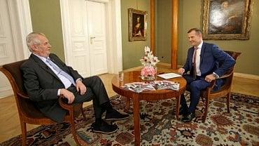 Týden s prezidentem: prezident Zeman a Jaromír Soukup.