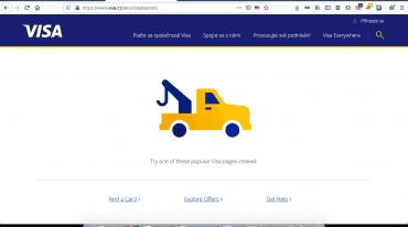 Web soutěže při platbě kartou Visa na České poště. (17. 7. 2020)