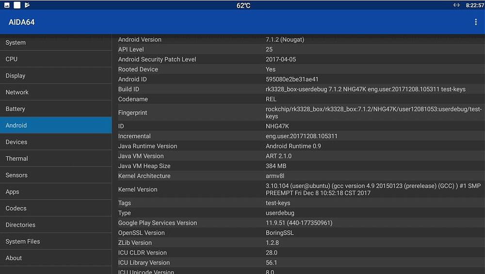Systémový software AIDA 64