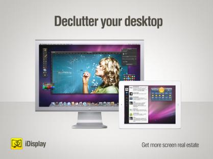 iDisplay rozšíří Plochu Windows nebo Mac na váš tabletu případně smartphone