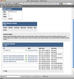 Náhled na IPv6 adresy v systemu MetaNAV