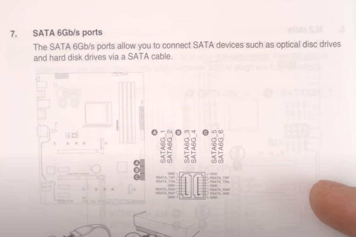 Porty SATA jsou podrobně popsány v příručce k základní desce. S největší pravděpodobností budete chtít pevný disk připojit k portu SATA-1.