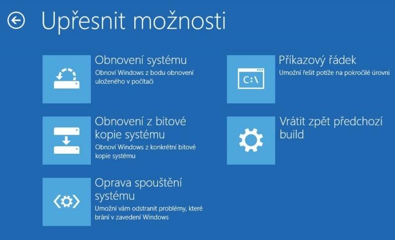 Možností obnovení Windows 10 je řada a všechny se někdy hodí